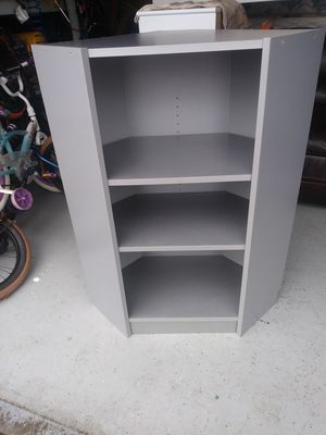 Corner shelves like new. 44 h. 33 W. 15 D. Deliver With extra. ( m in salem ) for Sale in Brooks, OR