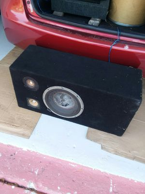 Speaker in working condition,I don't know what brand or watts in it but work perfect. for Sale in Port Richey, FL