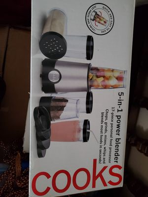 5 in 1 power blender, Cooks, 17 pieces for Sale in Plano, TX