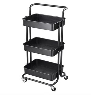 3 Tier Rack Trolley Rolling Utility Cart Home Office Kitchen Tool Storage for Sale in Los Angeles, CA