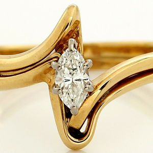 8447 DIAMOND RING 0.25CT ENGAGEMENT WEDDING SET BAND LADIES GOLD for Sale in Costa Mesa, CA