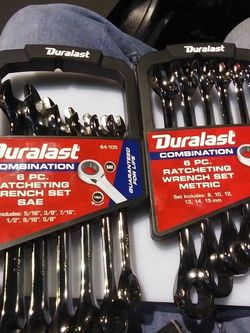 Duralast Combination 6 Piece Standard And Metric Ratcheting Wrench Sets for Sale in Las Vegas,  NV
