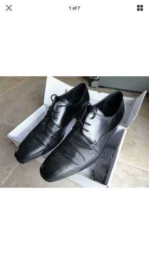 Mens ALDO Black Dress Shoes Leather LEADMAN Size 9.5-10 (43) for Sale in Rancho Cucamonga, CA