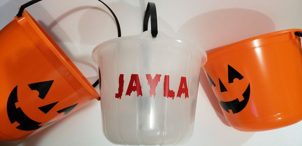 Customized Halloween buckets