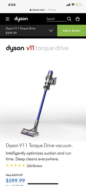 Dyson V11 Torque Drive Vacuum for Sale in New York, NY