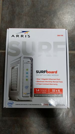 Arris DOCSIS 3.0 SB6190 NIB CABLE MODEM for Sale in Greenville, SC
