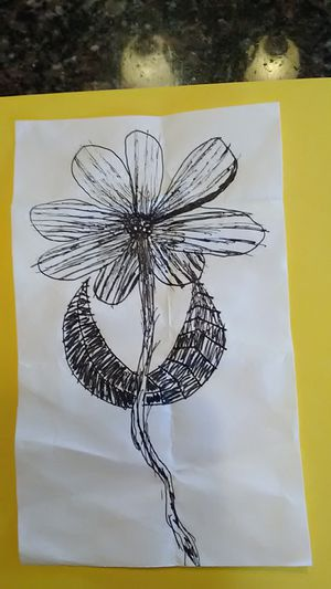 Handmade item flower drawing for Sale in Grover Beach, CA