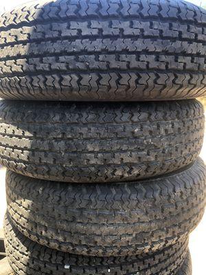 4 trailer tires 225 75 15 for Sale in El Cajon, CA