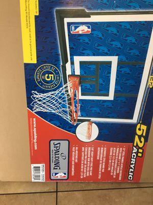 Spalding acrylic basketball hoop new for Sale in Sacramento, CA