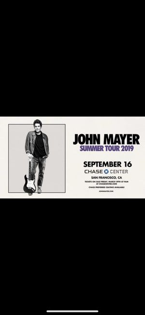 John Mayer summer tour 9/16 for Sale in Alameda, CA