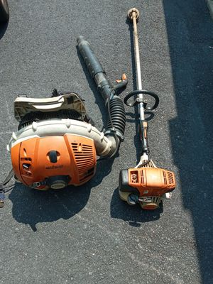 Stihl back pack Blower and weed eater for Sale in Jonesboro, GA