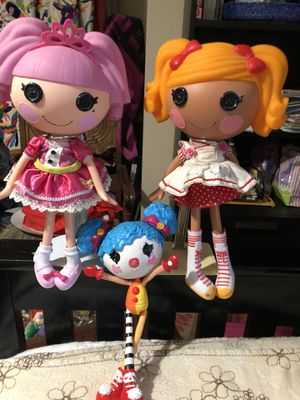 LaLaLoopsy dolls lot of 3 for Sale in Petaluma, CA