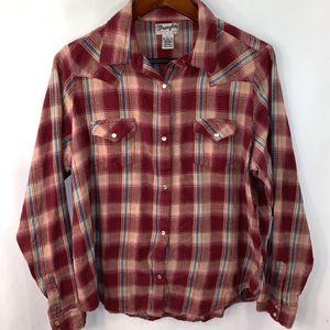 Wrangler Flannel Shirt Pearl Sanp XXL for Sale in Longmeadow, MA