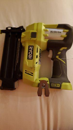 Ryobi 18v Brad nail gun with 1 battery for Sale in East Wenatchee, WA