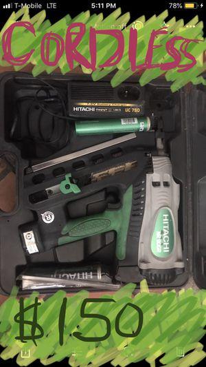 Hitachi cordless nail gun for Sale in Las Vegas, NV