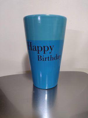Ceramic Happy birthday flower vase for Sale in Palatine, IL