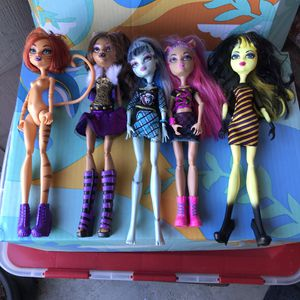 Monster High Dolls For Play Or OOAK / Repaints for Sale in Fairfield, CA