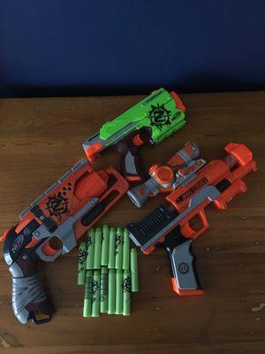 3 Nerf Zombie Strike Guns for Sale in Manassas, VA