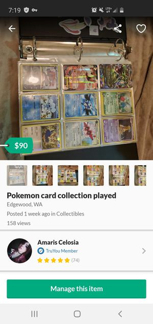 Pokemon card collection played for Sale in Edgewood, WA