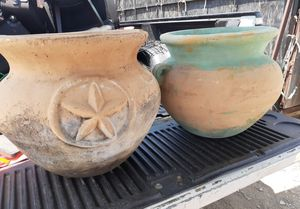 """2 large clay flower pots, 20"""" H , x 18"""" W, both for $75 for Sale in Fort Worth, TX"""
