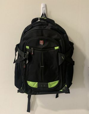 Green and Black Water Resistant Travel Laptop Notebook School Backpack for Sale in Ontario, CA