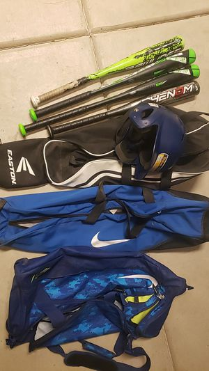 Baseball bats, bags and helmet set for Sale in Chino, CA