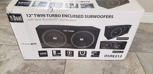"""12"""" TWIN TURBO ENCLOSED SUBWOOFERS for Sale in Las Vegas, NV"""