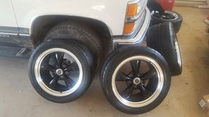 Nitto tires and black and chrome rims for Sale in Abilene, TX