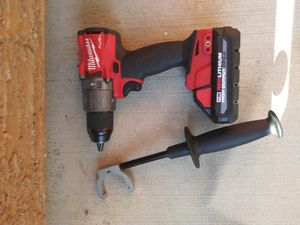 Milwaukee hammer drill with 3ah battery for Sale in North Las Vegas, NV