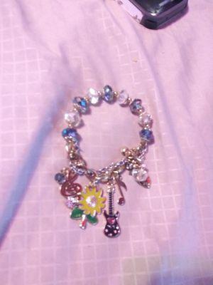 Betsey Johnson blue music charm bracelet for Sale in Wichita, KS