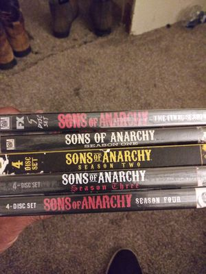 Season1-4 and final season Sons of Anarchy $20. for Sale in Irving, TX