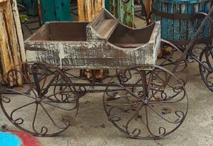 Amish rolling buggy flower pot holder $55 each for Sale in Garland, TX