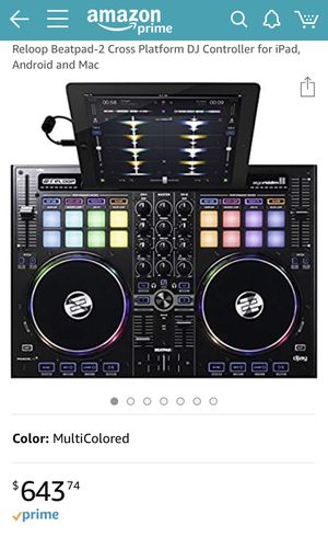Reloop Beatpad-2 Cross Platform DJ Controller for iPad, Android and Mac for Sale in Alexandria, VA