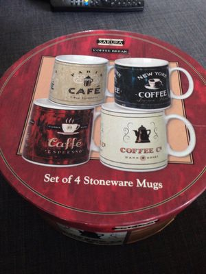 Brand Name Is Sakura Coffee Break Set Of 4 Mugs. Please See All The Pictures and Read the description for Sale in Alexandria, VA