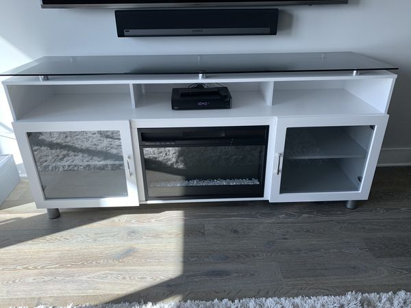 "70"" TV Stand w/ Build in Electric Fireplace"