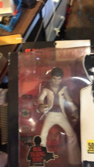 Scarface action figure and poster for Sale in Owensboro, KY