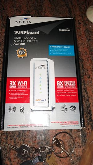 Arris cable modem and Wi-Fi router for Sale in Vancouver, WA