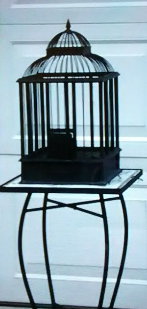 Black metal bird cage for Sale in Columbus, OH