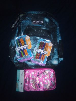 Kids backpack mechanical pencil and storage bag new for Sale in Tolleson, AZ