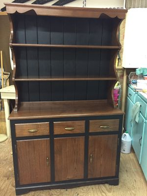 "Beautiful 2pc Walnut Open Hutch69""tall42 1/2""long16""deep,very good condition for Sale in Waynesboro, VA"