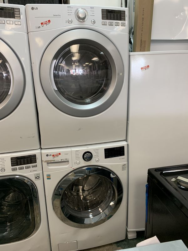 NEW SCRATCH AND DENT LG FRONT LOAD WASHER AND DRYER GAS WITH WARRANTY