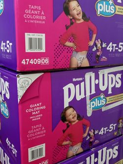 Huggies Pull Ups 4-5t/102 Counts Girl ☑️ for Sale in Gardena,  CA
