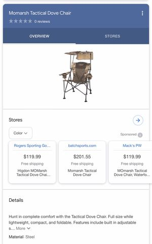 Chair/Fishing/Hunting/Tactical/outdoor(New, open box) for Sale in Sanford, FL