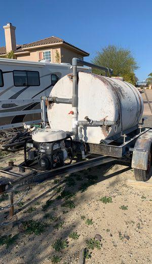 Water trailer water tank heavy duty water pump for Sale in Murrieta, CA
