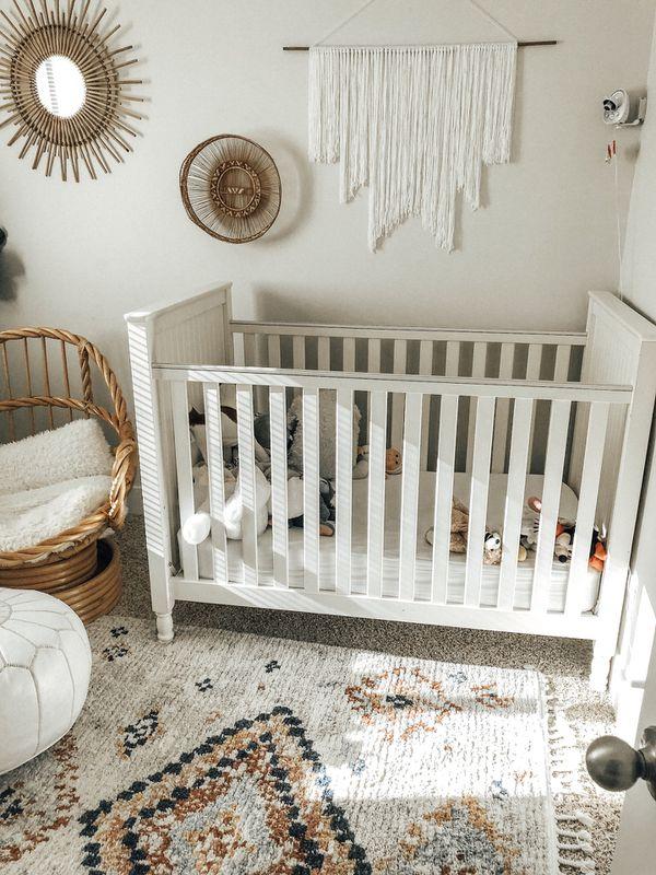 Pottery Barn Kids White Crib Bed Nursery Mattress For Sale