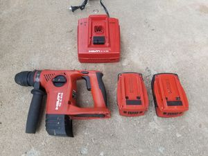 Hilti 18v lithium ion hammer drill kit with 5amps batteries for Sale in Alexandria, VA