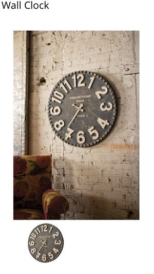 Home Decor Accents Wall Clock time big clock only $60 still brand new shape . for Sale in Los Angeles, CA