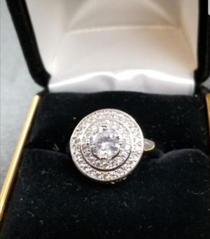 $10 new size 8 or 9 silver plated CZ ring for Sale in Manchester, MO