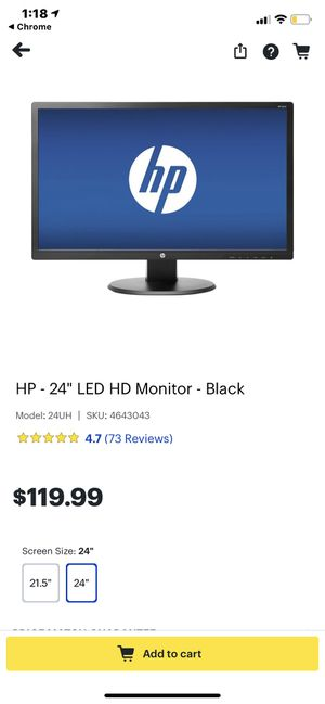 "Monitor HP 24"" brand new for Sale in King of Prussia, PA"