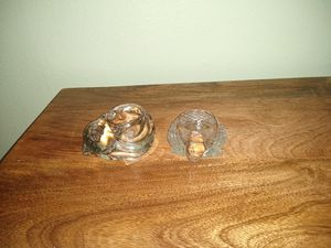 Cat and glass turtle candle holders for Sale in Fresno, CA